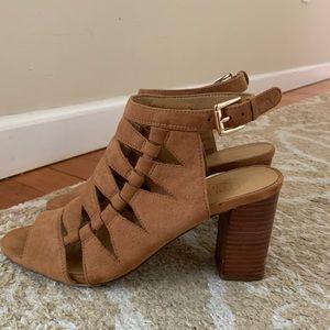Franco Sarto block heel sandals, size 8, EUC